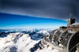 Abzug einer Schlechtwetterfront auf der Zugspitze