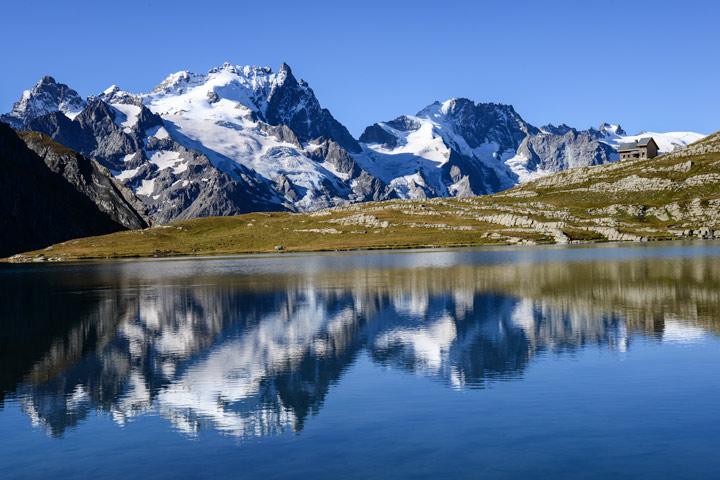Lac du Goleon mit Meije-Spiegelung