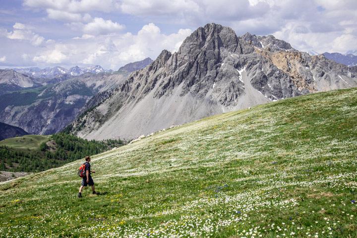Wanderer am Passo della Mulattiera