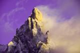 """Der schroffe Cimon della Pala (3184 Meter) wird auch """"das Matterhorn der Dolomiten"""" genannt."""