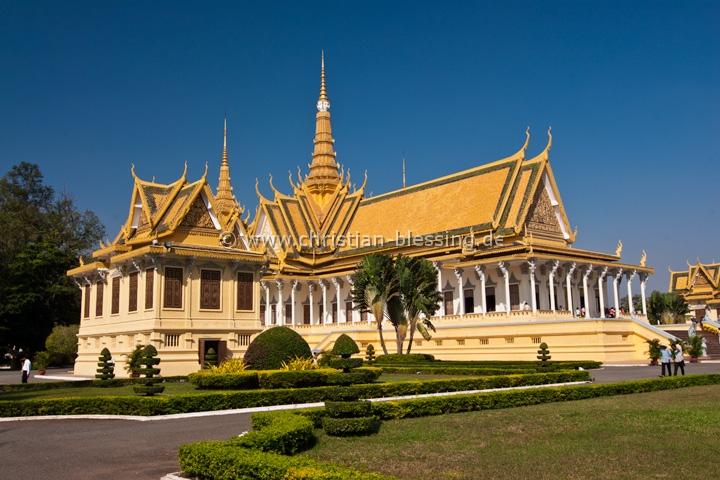 Kambodscha - Der Königspalast von Phnom Penh mit seiner Silberpagode gehört zur UNESCO.