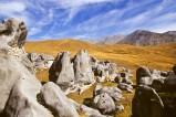 Felsblöcke am Arthur's Pass auf der Südinsel von Neuseeland
