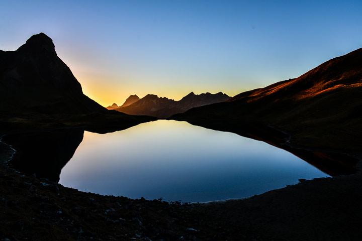 Kleiner Rappensee in den Allgäuer Alpen