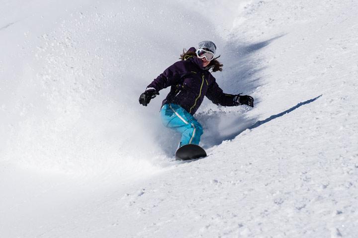 Snowboardfahrer am Brauneck