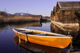 Ruderboot am Staffelsee - Der Staffelsee ist ein sehr schöner Moorsee bei Murnau im Werdenfelser Land.