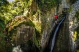 Klettersteig im Canyon de Lantosque